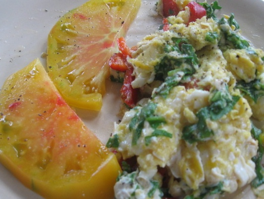 tomato and eggs