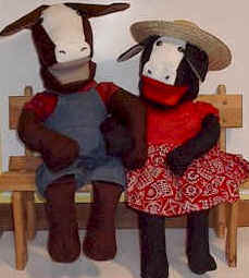cow puppets