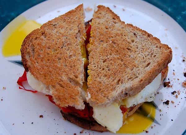gushing sandwich