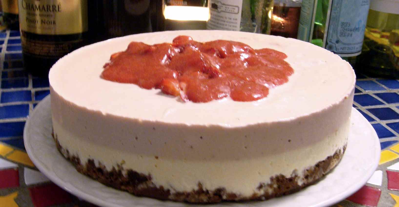 Strawberry Vanilla Cheesecake