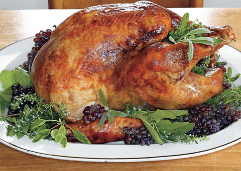 Sage Butter-Roasted Turkey With Cider Gravy Recipe — Dishmaps