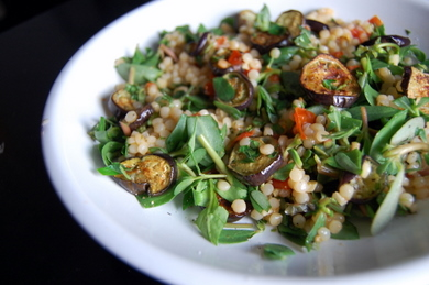 couscous with purslane