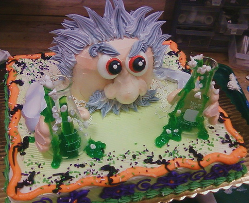 mad scientist cake