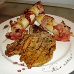 Pork Chops with Banana and Bacon