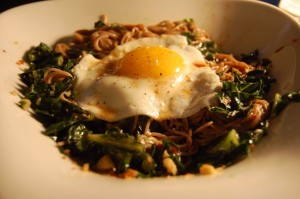 Slovenia - Wilted Greens with Buckwheat Noodles