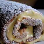 roulade cake with sugar