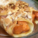 Candied Sweet Potato Crepes