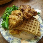 Pancetta Sweet Potato Waffles