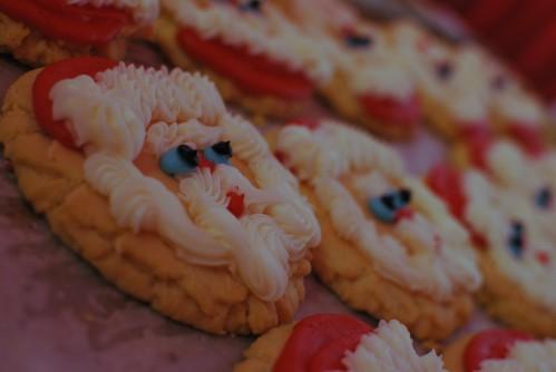 santa cookies, cookies, christmas cookies