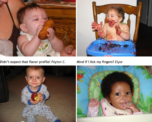 cute kids eating