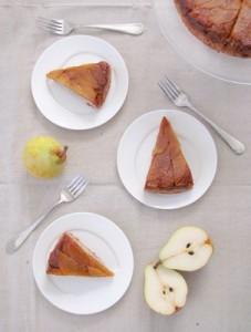 Caramel Pear Torte
