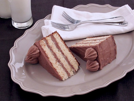 Yellow Butter Cake with Chocolate Frosting Recipe