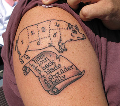a kick-ass food tattoo.