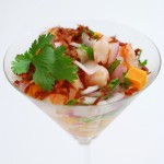 Coconut Sweet Potato Tequila Shrimp Ceviche