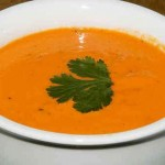 Roasted Red Pepper Tequila Soup