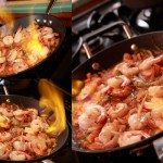 Spicy Tequila Shrimp Flambe