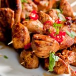 Tequila Lime Chicken Skewers