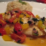 Tilapia with Vegetables in a Tequila-Lime Reduction