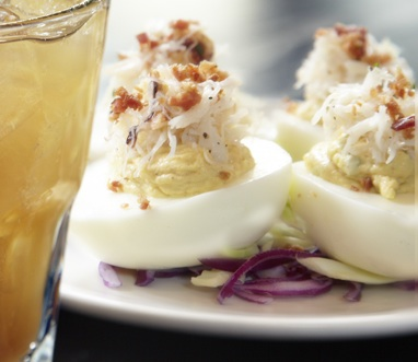 Dungeness Crab Deviled Eggs