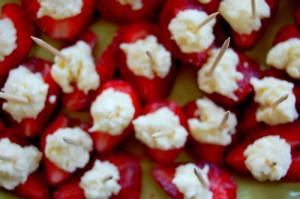 strawberries and ricotta
