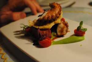 veal tongue and octopus (a surf & turf)