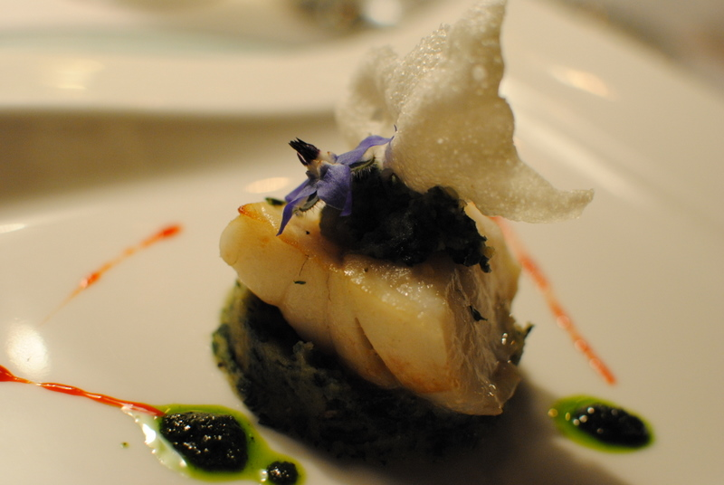 turbot, spinach potato cake