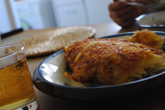 rosti potatoes and swiss soft drink rivella