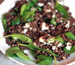 Green Lentil Salad With Baby Spinach And Goat Cheese