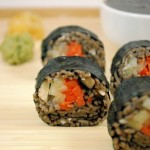 Soba Rolls with Hazelnuts and Black Sesame Sauce