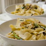 Creamy Zucchini and Hazelnut Pasta