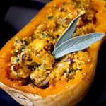 Hazelnut and Quinoa Stuffed Squash