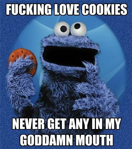 tumblr_lsibbfhICM1qhuaz5o1_500 attack of the meme cookie monster,Want A Cookie Meme