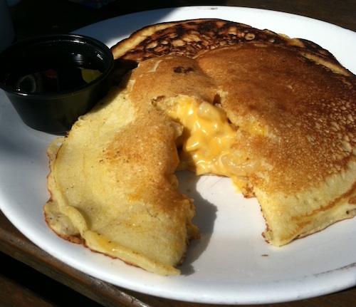Mac and Cheese pancakes
