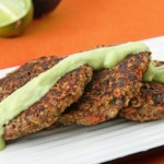 Quinoa Patties with Avocado Sauce