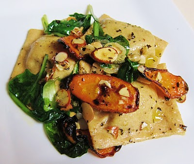 Roasted Carrot & Avocado Ravioli