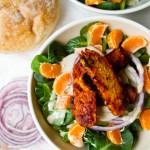 BBQ Tempeh Tahini Citrus Salad