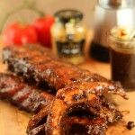 Smoked Baby Back Ribs with Espresso BBQ Sauce