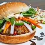 Bahn Mi Burgers with Vietnamese Caramel BBQ Sauce