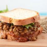 BBQ Lentil Sandwich