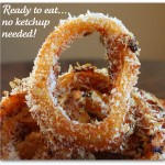 Baked-In BBQ Sauce Onion Rings
