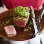 Tuna with Avo-Wasabi Puree