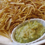 Shoestring Fries with Avo-Garlic Aioli