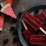Watermelon and Blackberry Margarita Popsicle-Endless Simmer
