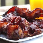 Bacon, Sausage & Ham Breakfast Kebabs with Marionberry-Cinnamon BBQ Sauce