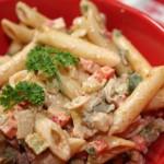 Creamy BBQ Pasta Salad