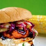 BBQ Salmon Burgers
