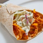 BBQ Chicken Blue Cheese Slaw Wraps