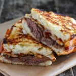 Roast Beef BBQ Sauce Grilled Cheese