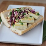 Tofu Po'Boy with Barbeque Cole Slaw