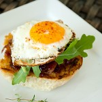 Open-Faced BBQ Breakfast Sandwich